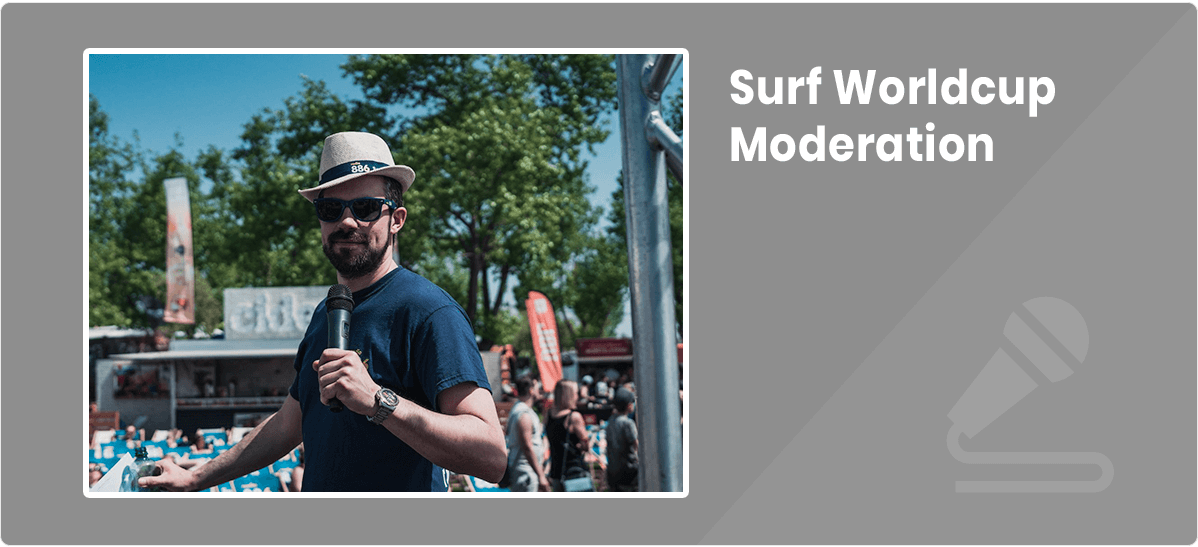 Christian Traunwieser Surf World Cup Moderation